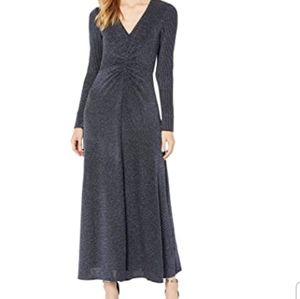 Donna Morgan stretch front ruched metallic dress